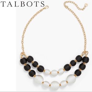 Talbots Thread Wrapped Sphere Necklace • NWOT
